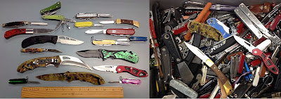 An assortment of knives.