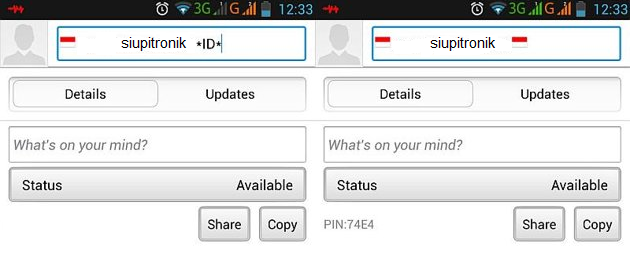 tips bbm di android
