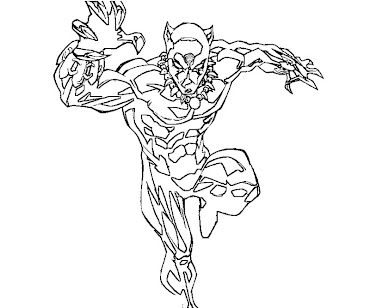 #7 Black Panther Coloring Page