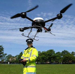 droni e vigili urbani