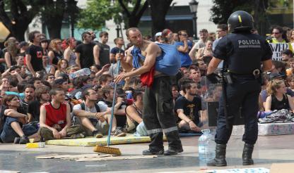 Espanha-Barcelona: PRAÇA DA CATALUNHA INUNDADA POR PROTESTO
