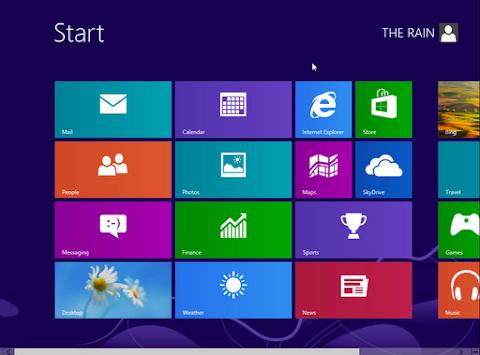 Dan akhirnya, Windows 8 sudah selesai anda install dan menunjukka start screen untuk pertamakali :)