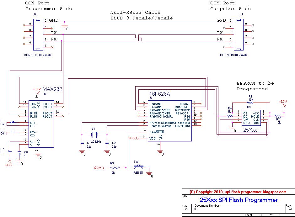 Spi flash программатор схема