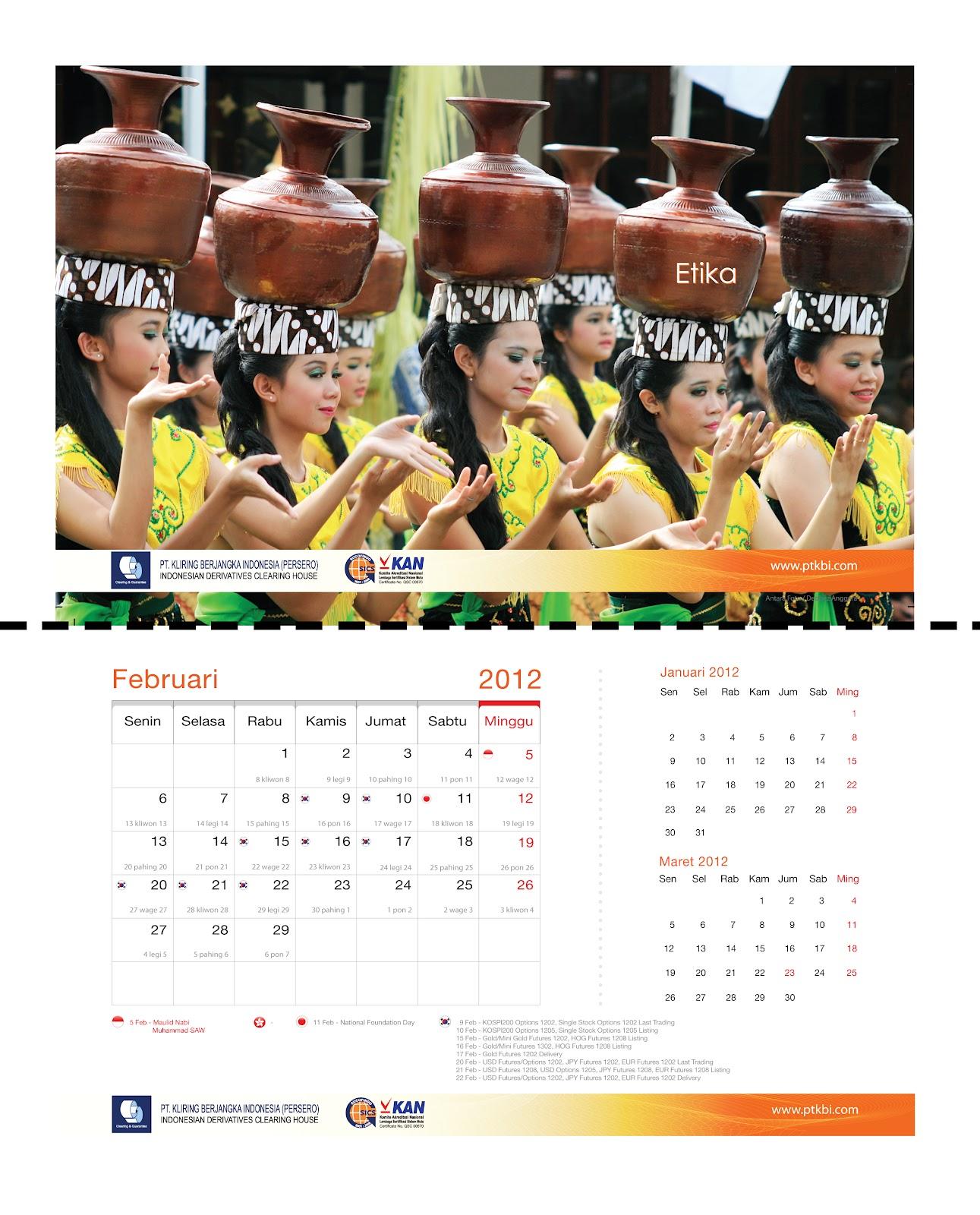 Desain Kalender Dinding 2013