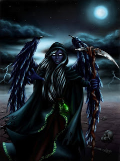 Grim Reaper / Angel of Death portrayed as an evil angel