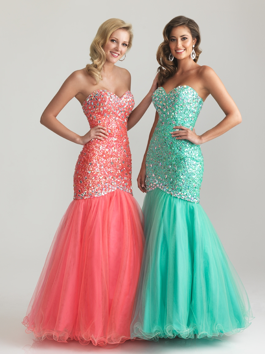 Trumpet mermaid prom dress