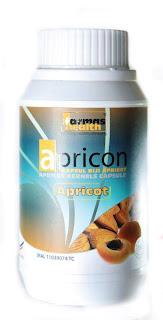 Biji kapsul Aprikot dari Apricon Farmas Health