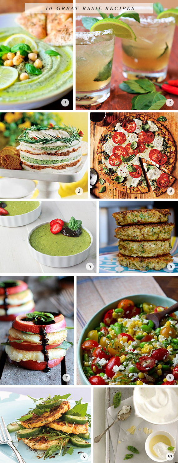 10 Great Basil Recipes // Bubby and Bean