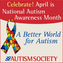 national autism awareness month button