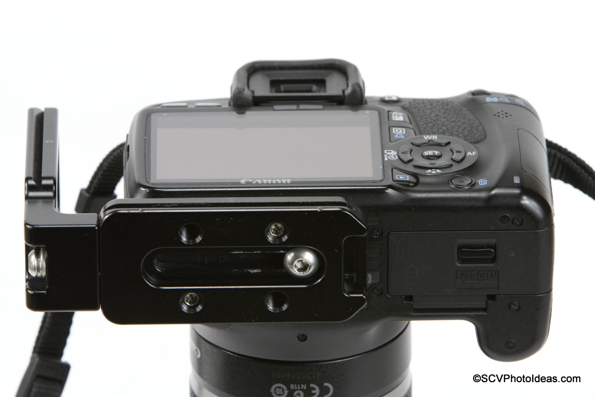 Hejnar L Bracket 22 mounted on Canon EOS 550D - Shifted off side