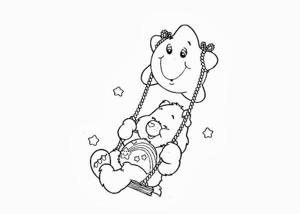 Care Bear Face Coloring Page