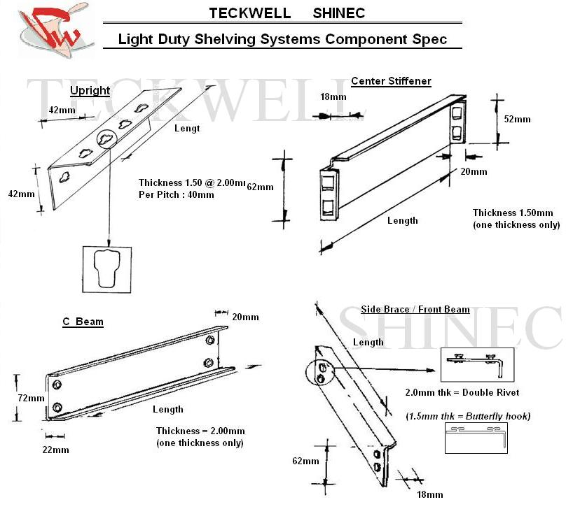 Teckwell Shinec Pte Ltd: Light duty steel racking