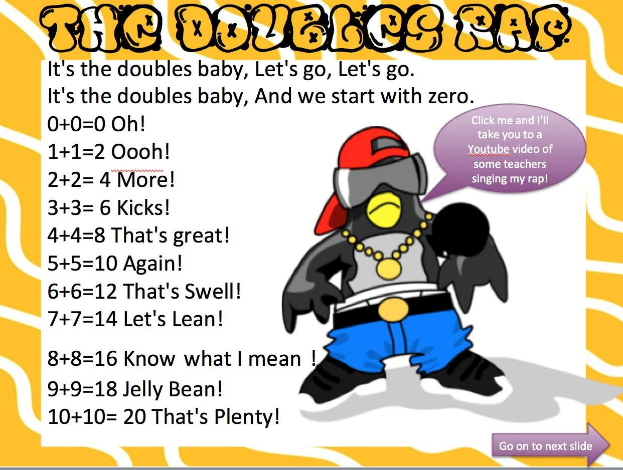 worksheet Doubles Fact sweet summer linky doubles powerpoint creation the techie creation