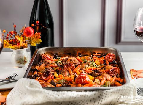 Eintopf jesienny- z udkami kurczaka, marchewką i grzybami