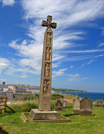 The first English poet, father of English song, Caedmon, Whitby.