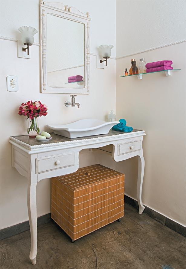 Casa de Boneca Decor Móveis no banheiro pode? Podeee!!! -> Cuba Para Banheiro Antiga