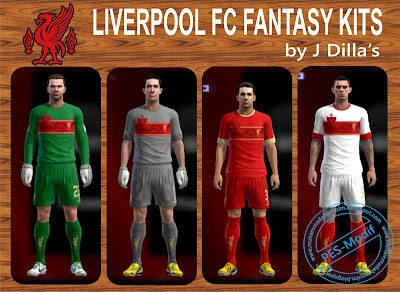 Liverpool FC Fantasy Kits by J Dilla's
