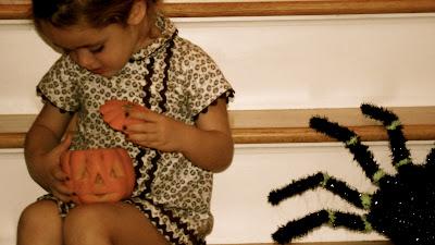 Niña calabaza pumpkin halloween