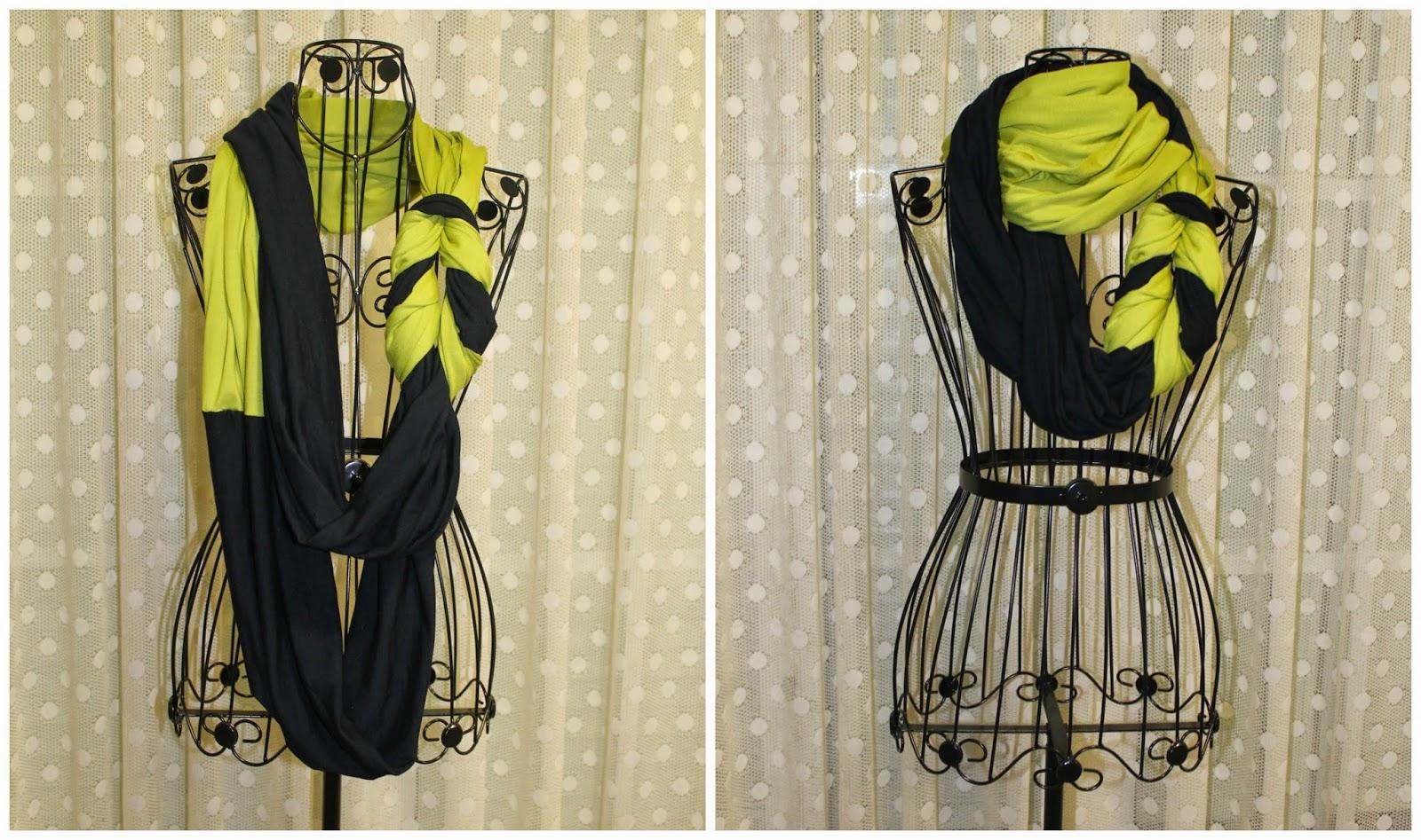 O obradoiro de Klor: Bufanda, cuello, scarf, snood de 2 colores y ...