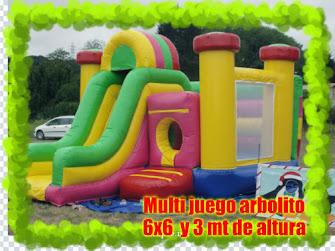 INFLABLE MULTIJUEGOS EN EL INTERIOR  DE 6X6 MT Y 3 MT DE ALTURA