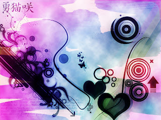 Hearts For Abstract Love Wallpaper