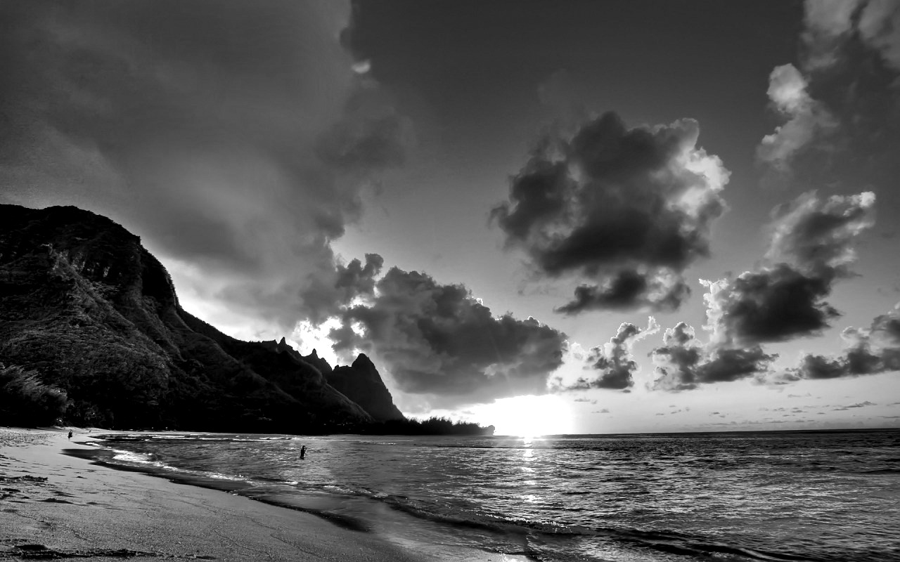 Black And White Most Beautiful Beach Wallpaper
