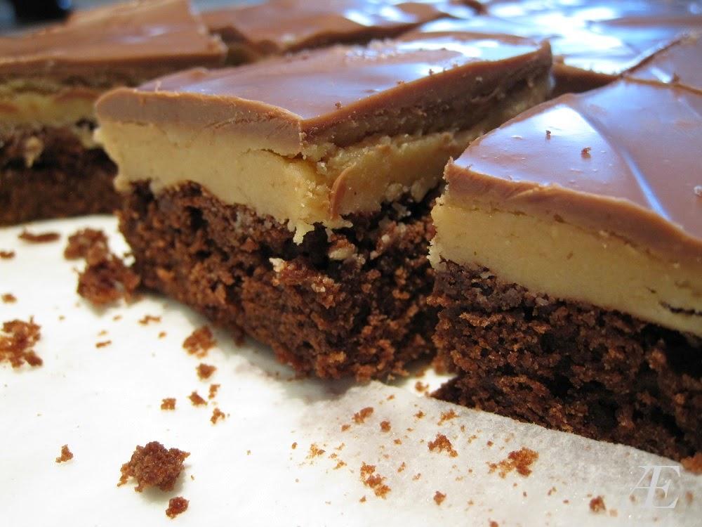 opskrift på peanut butter buckeye brownies oversat til dansk fra amerikansk