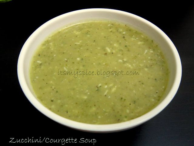 Healthy Vegetarian Courgett/Zucchini soup