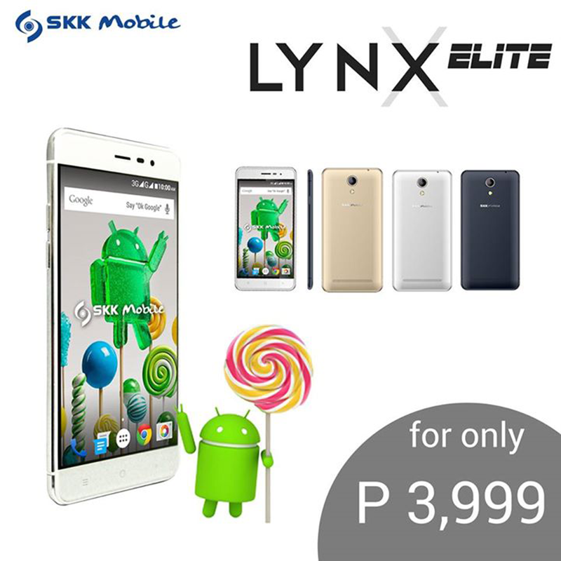 SKK Lynx Elite Goes Official, Get A Phone With 2.5D Curved Glass Screen For Just 3999 Pesos!