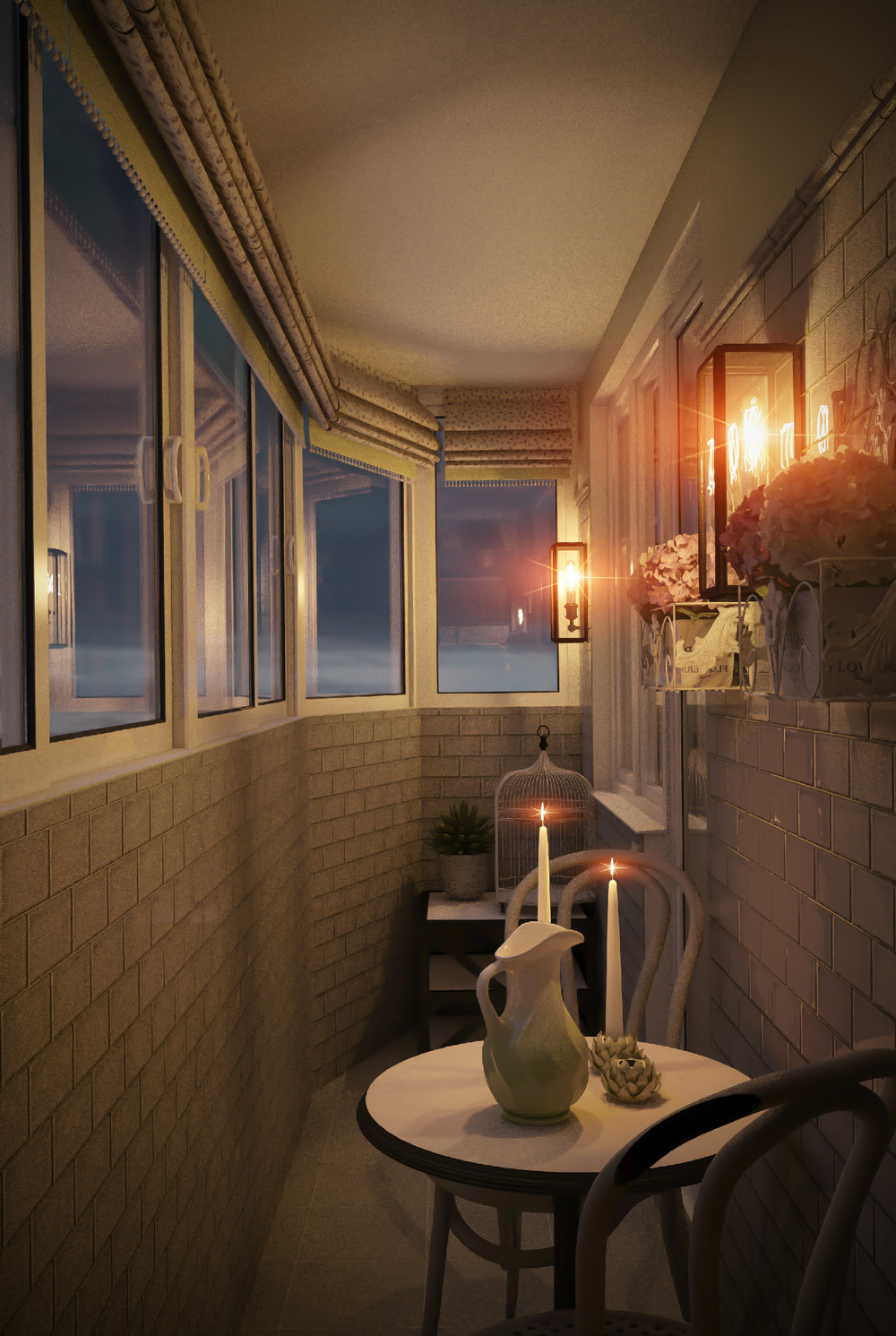 Фото оформления балкона в стиле прованс.