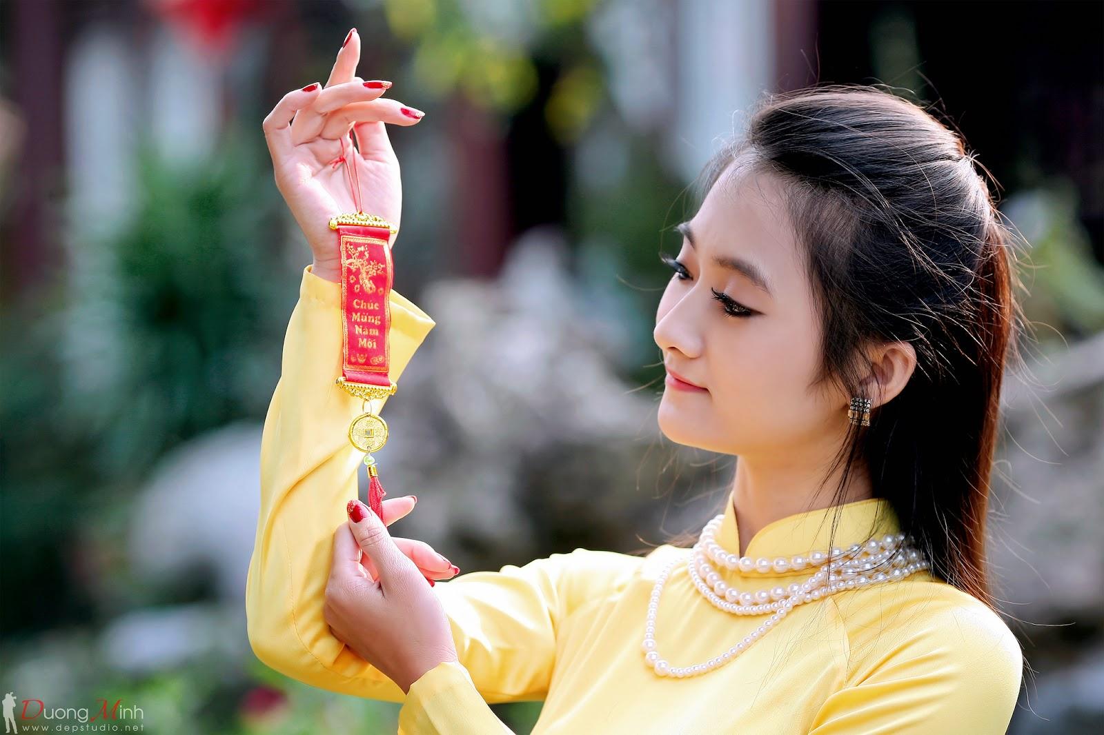 Ảnh đẹp girl xinh Áo dài truyền thống Việt Nam - Ảnh 14