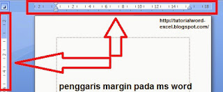 Gambar ruler margin di word