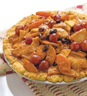 Caramelized Fruit and Nut Pie