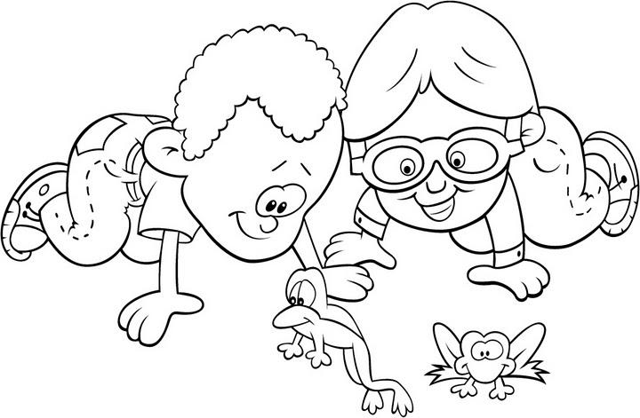 COLOREA TUS DIBUJOS: Niños observando animales para colorear