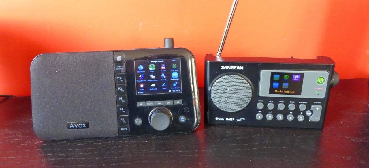 internetradios avox indio color und sangean wfr 27c - Avox Indio Color