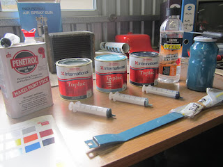 Ingredients for the Toplac paint mix