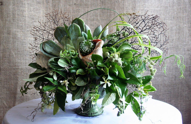 Capiz, Succulent, Shell, Fan Coral Floral Design, Isha Foss Events