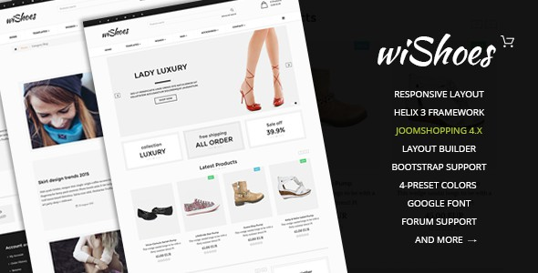 wiShoes Multipurpose Joomla eCommerce Template