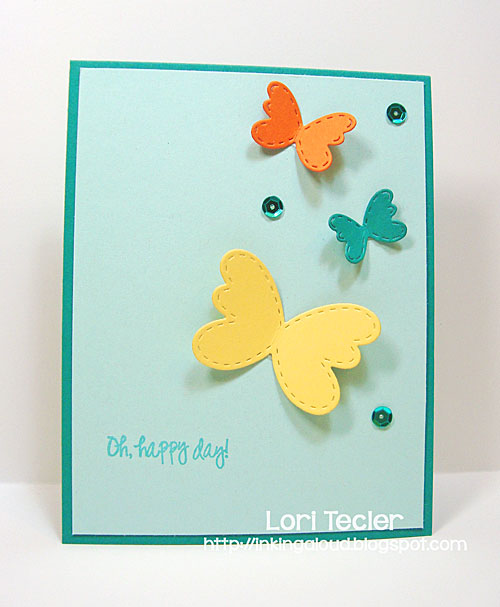 Oh Happy Day card-designed by Lori Tecler/Inking Aloud-stamps and dies from Lil' Inker Designs