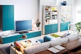 Decoração da Sala em Azul Turquesa
