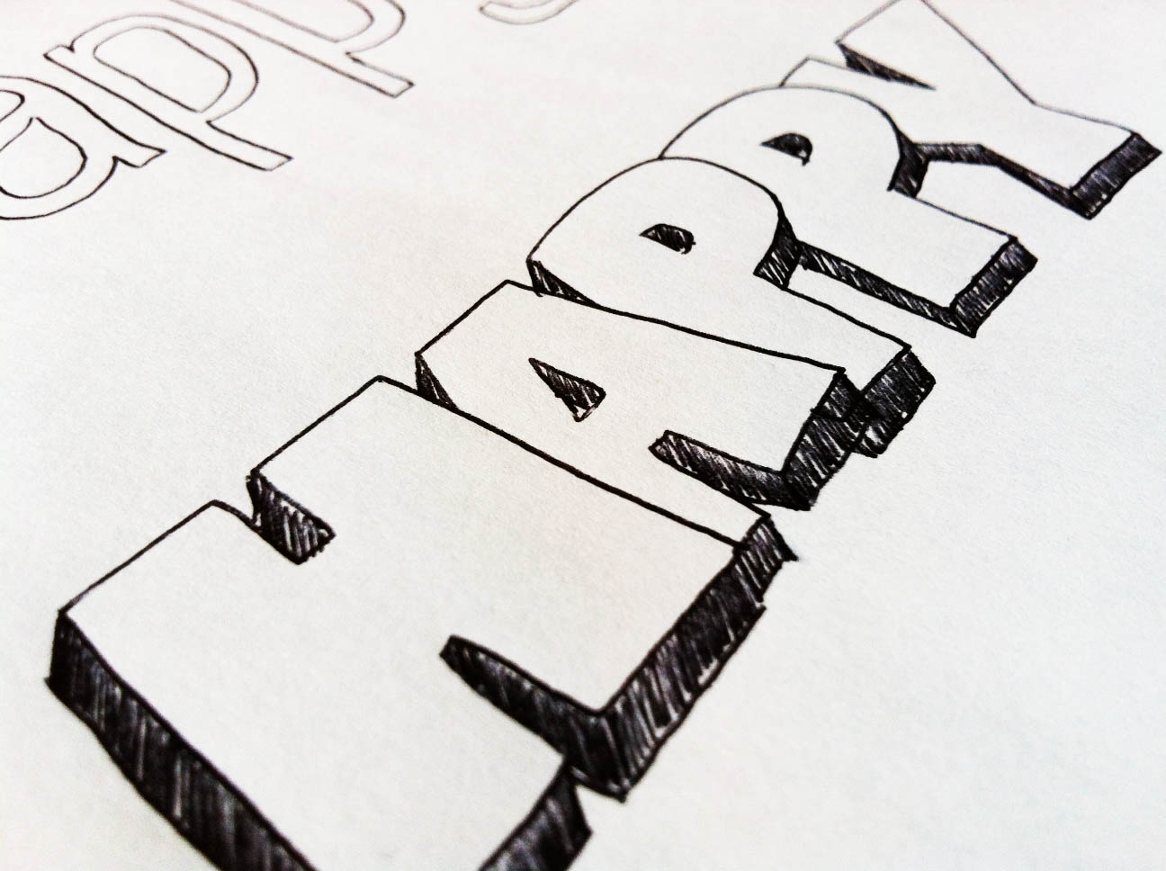 The Happy Homebodies Hand Lettering