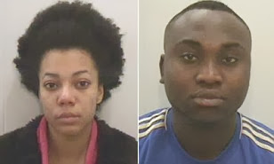 Young Nigerian couple jailed in the UK for internet banking scam