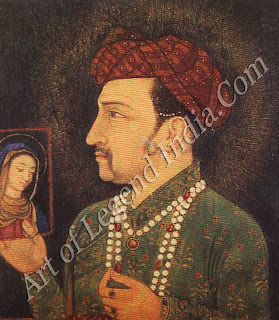 Jahangir Holding the  picture of Madonna