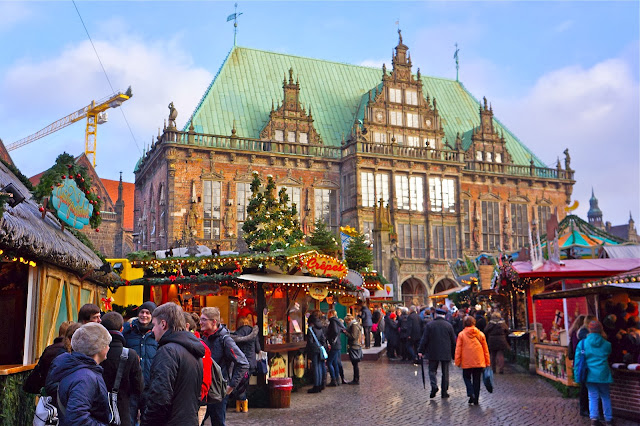 Photo of the Rathaus in Bremen, Germany.