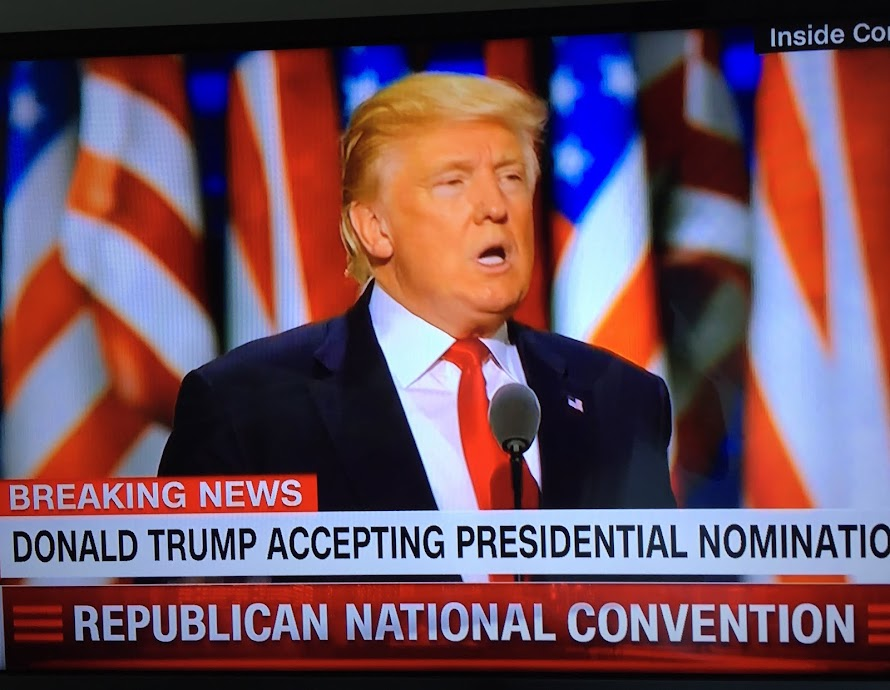 DONALD JOHN TRUMP ACCEPTS RNC PRESIDENTIAL NOMINATION.