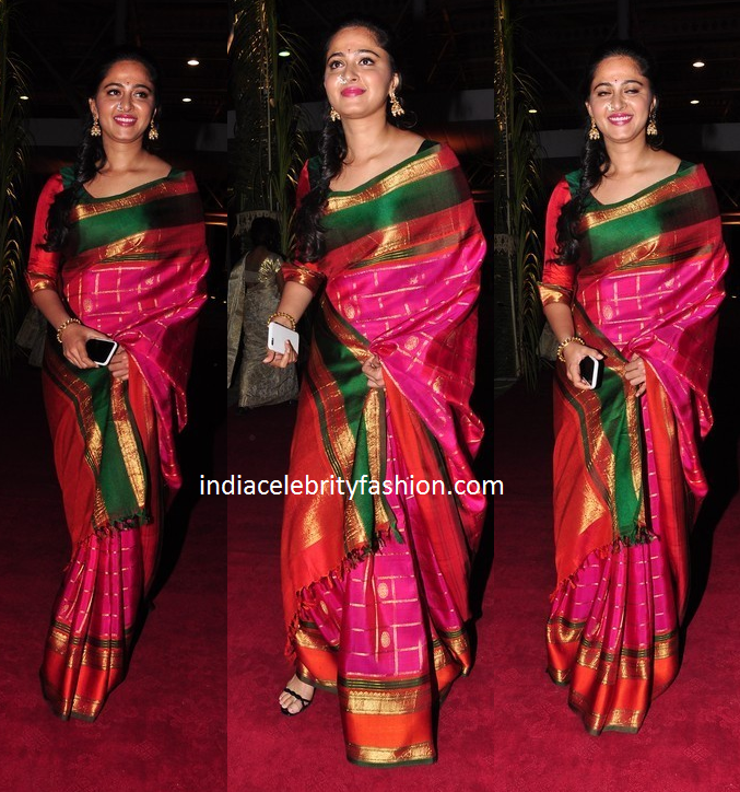 Anushka Shetty in Traditional Silk Saree