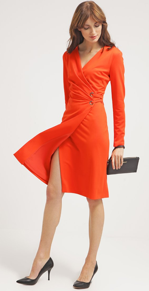 Robe midi orange Escada