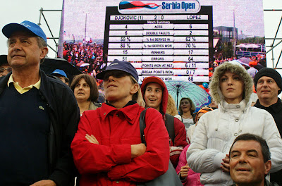 Audience at the Serbia Open tournament