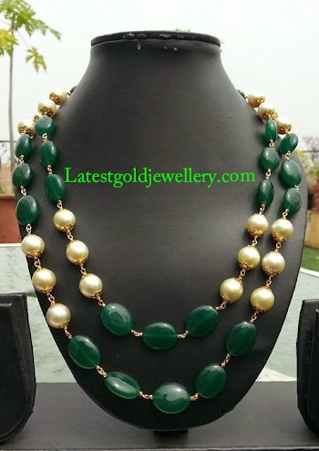 runjhun necklace set online jewellery buy golden designs designer zoom designers beads mala jaipuri