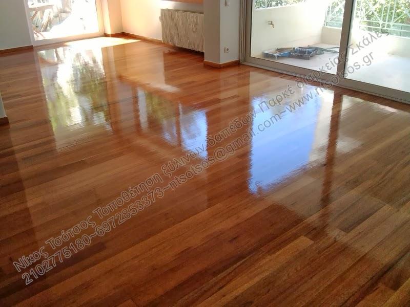 Συντήρηση σε ξύλινο πάτωμα απο ξυλεία Badi